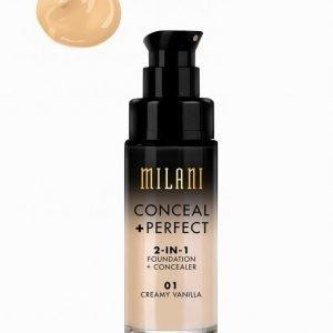 Milani Conceal & Perfect Liquid Foundation Meikkivoide Creamy Vanilla