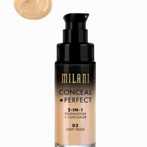 Milani Conceal & Perfect Liquid Foundation Meikkivoide Light Beige