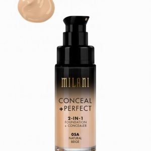 Milani Conceal & Perfect Liquid Foundation Peitevoide Natural Beige