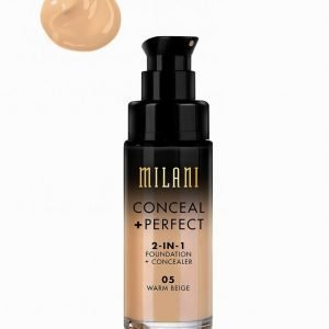 Milani Conceal & Perfect Liquid Foundation Peitevoide Warm Beige