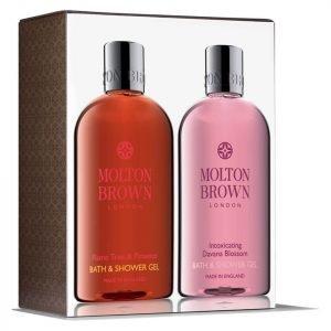 Molton Brown Flame Tree & Pimento And Intoxicating Davana Blossom Bathing Set