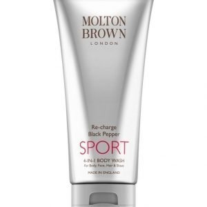 Molton Re Charge Black Pepper Sport 4 In 1 Body Wash Suihkusaippua 200 ml