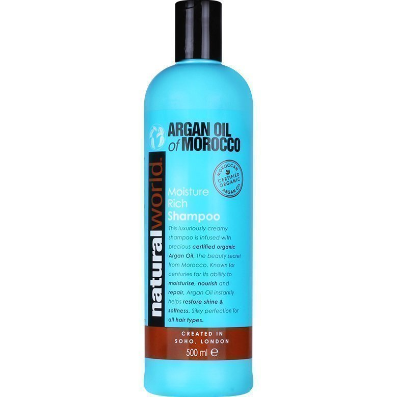 Moroccan Argan Oil Moisture Rich Shampoo 500ml