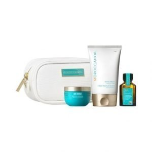 Moroccanoil Moisturize Travel Kit Body Souffle Vartalovoide + Hand Cream Käsivoide + Treatment Hiusöljy