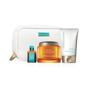 Moroccanoil Renew Collection Body Buff Vartalonkuorinta + Hand Cream Käsivoide + Treatment Hiusöljy