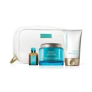 Moroccanoil Restore Collection Body Soufflé Vartalovoide + Hand Cream Käsivoide + Treatment Hiusöljy