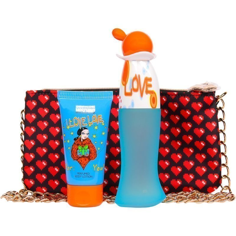 Moschino I Love Love EdT 50ml Body Lotion 50ml Purse