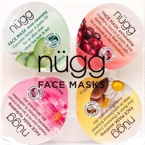 Nügg Face Mask 4 kpl Exfoliating Soothing Hydrating Revitalizing