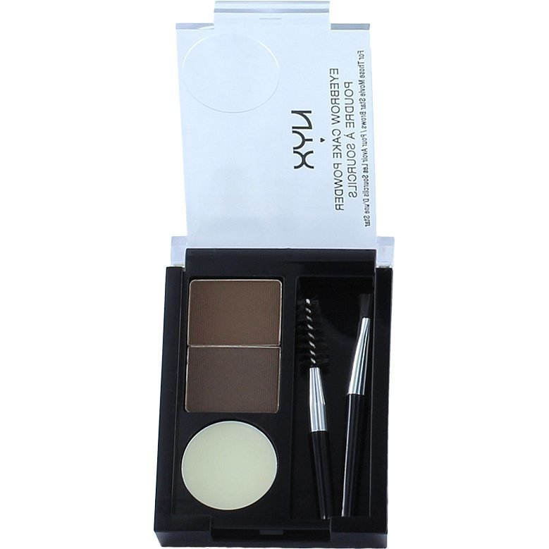 NYX Eyebrow Cake Powder ECP 02 Dark Brown/Brown 2