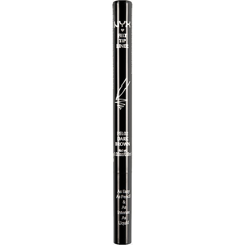 NYX Felt Tip Liner Dark Brown 0