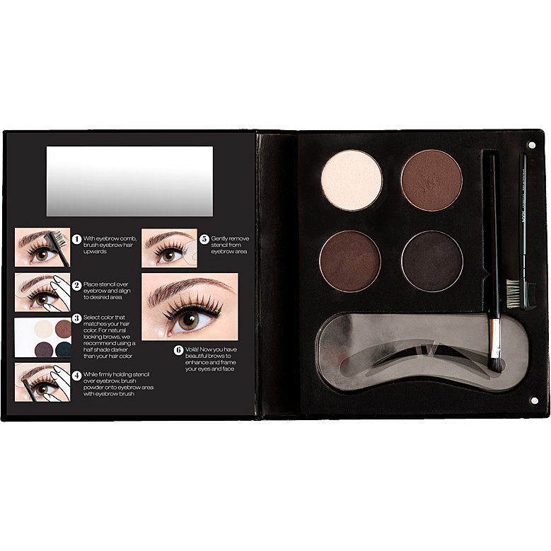 NYX For Everyone Eye Brow Kit Set With Stencil