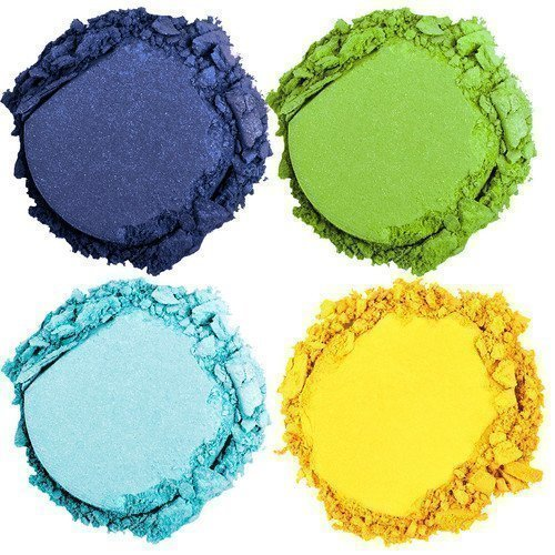 NYX PROFESSIONAL MAKEUP High Hot Singles Eye Shadow Green Yellow & Blue Galactic