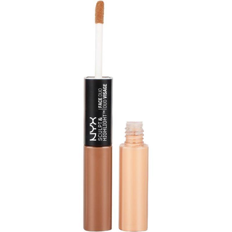 NYX Sculpt & Highlight Face Duo SHFD04 Cinnamon/Peach 2x5