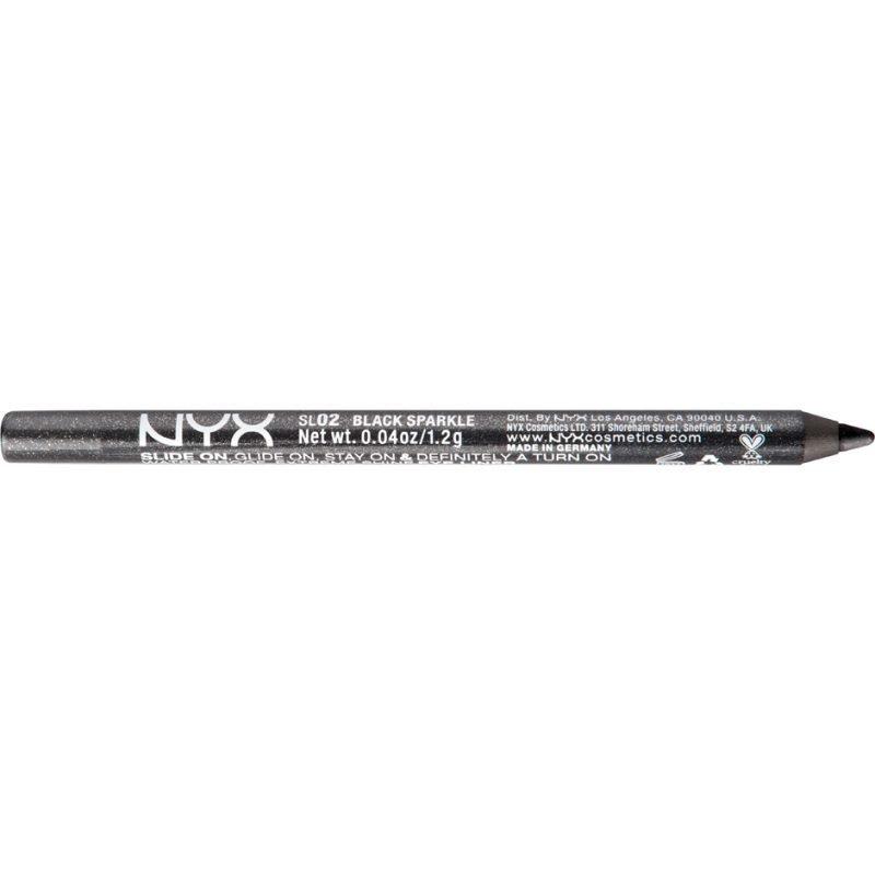 NYX Slide On Pencil SL02 Black Sparkle 1