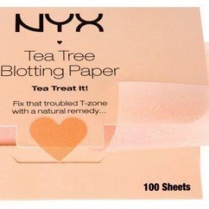 NYX Tea Tree Blotting Paper 100 kpl