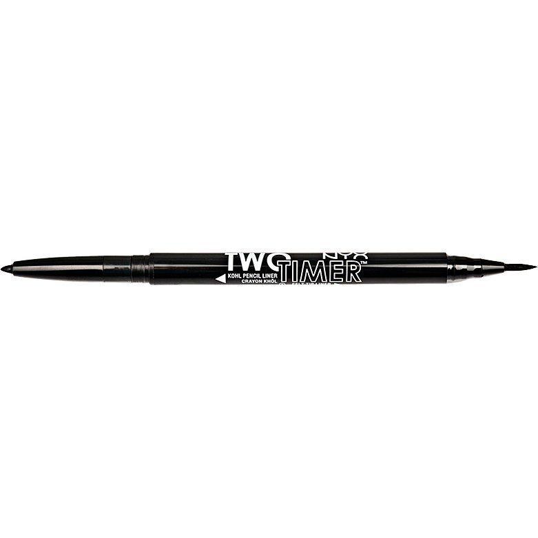NYX Two Timer Dual Ended TT01 Eyeliner Black 1g