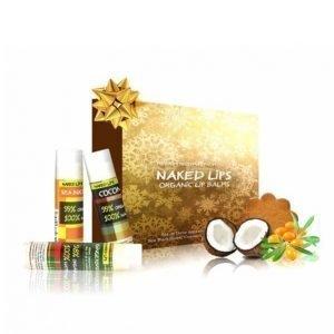 Naked Lips Lahjapakkaus Jossa 3 Huulivoidetta