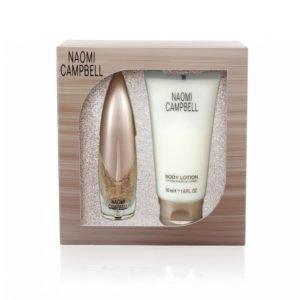 Naomi Campbell Signaturen Lahjapakkaus Edt 30 Ml + Bodylotion 50 Ml Lahjapakkaus