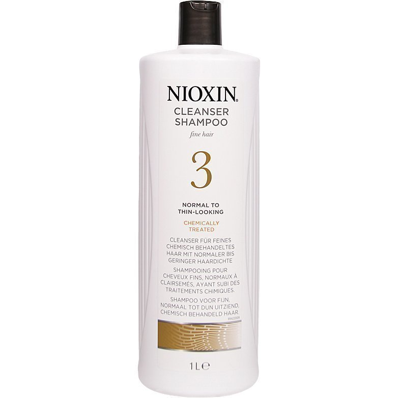 Nioxin System 3 Cleanser Shampoo (Fine Hair) 1000ml