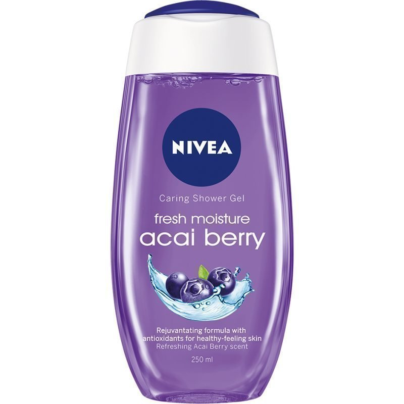 Nivea Caring Shower Gel Fresh Moisture Acai Berry 250ml