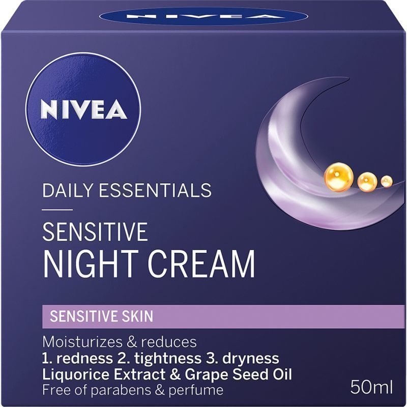 Nivea Daily Essentials Sensitive Night Cream 50ml
