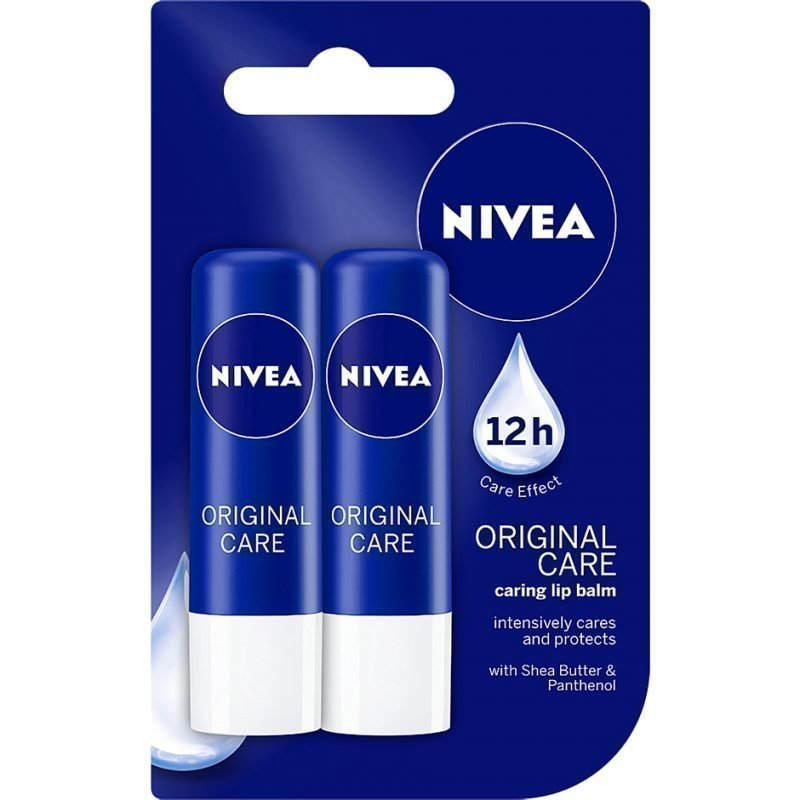 Nivea Essential Care Lip Care Duo 2x4