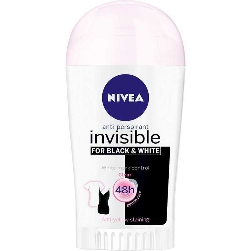 Nivea Invisible Black & White Clear Deostick 40ml