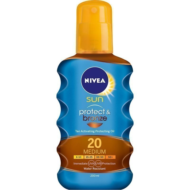 Nivea Sun Protect & Bronze Oil SPF20 200ml