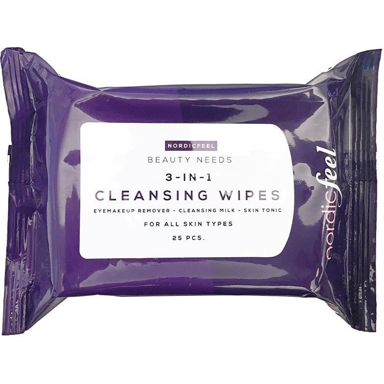 NordicFeel Beauty Needs 3-In-1 Cleansing Wipes 25 st