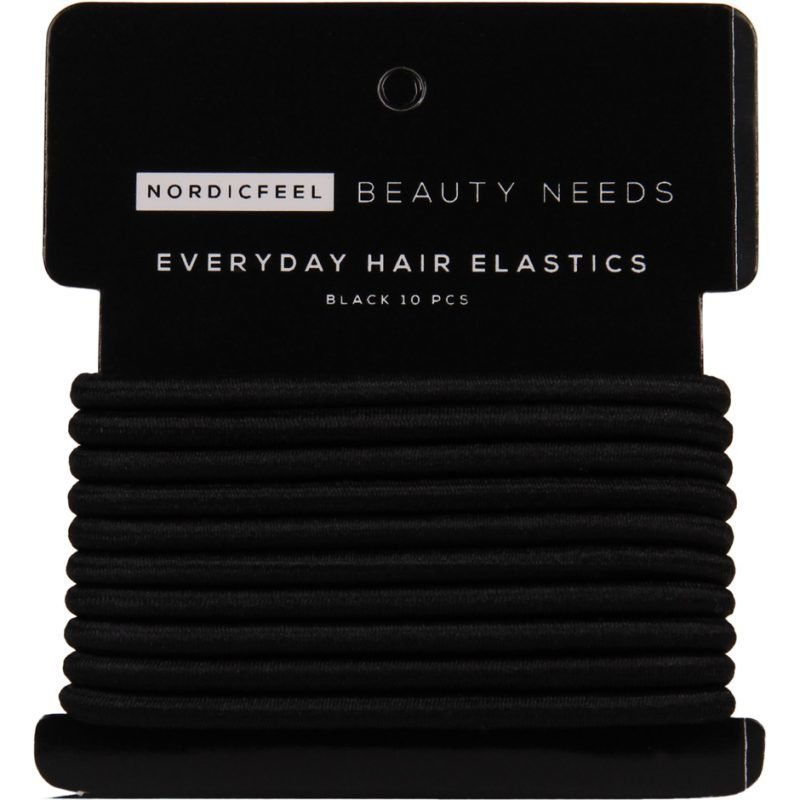 NordicFeel Beauty Needs Everyday Hair Elastics Black 10 Pcs