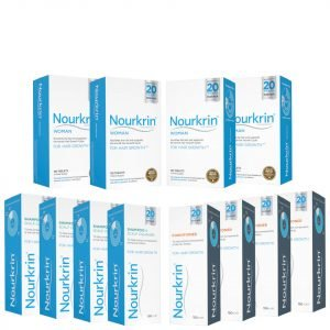 Nourkrin Woman Hair Growth Supplements 12 Month Bundle With Shampoo And Conditioner X4
