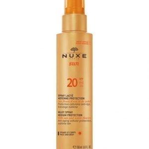Nuxe Milky Spray For Face And Body Spf 20 Aurinkoemulsiosuihke 150 ml