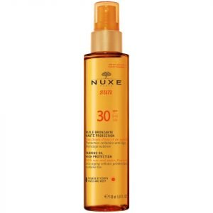 Nuxe Sun Tanning Oil Face And Body Spf 30 150 Ml