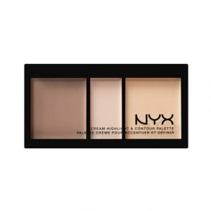 Nyx Cream Highlight And Contour Palette Korostuspaletti