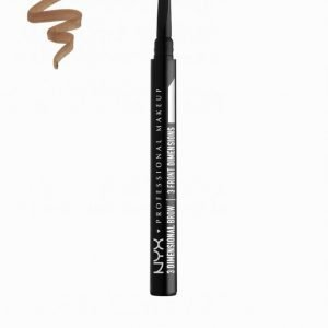 Nyx Professional Makeup 3 Dimensional Brow Kulmakynä Soft Brown