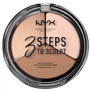 Nyx Professional Makeup 3 Steps To Sculpt Face Sculpting Palette Fair