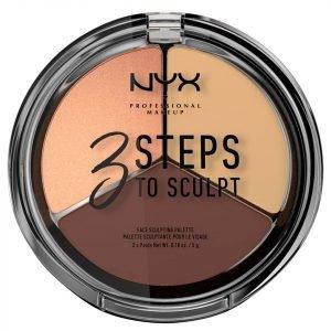 Nyx Professional Makeup 3 Steps To Sculpt Face Sculpting Palette Medium