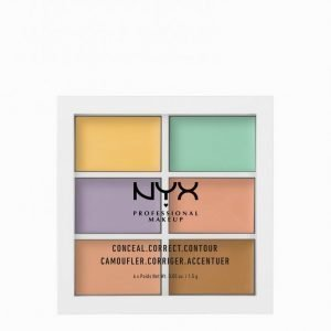 Nyx Professional Makeup 3c Palette Color Correcting Concealer Peitevoide Monivärinen