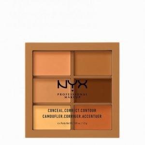 Nyx Professional Makeup 3c Palette Conceal Correct Contour Meikinkorostuspaletti Deep