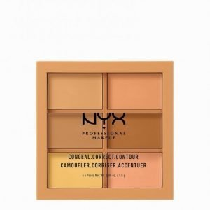 Nyx Professional Makeup 3c Palette Conceal Correct Contour Meikinkorostuspaletti Medium