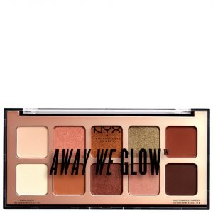 Nyx Professional Makeup Away We Glow Shadow Palette 10g Hooked On Glow