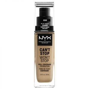 Nyx Professional Makeup Can't Stop Won't Stop 24 Hour Foundation Various Shades Beige