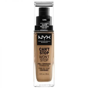 Nyx Professional Makeup Can't Stop Won't Stop 24 Hour Foundation Various Shades Camel