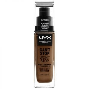 Nyx Professional Makeup Can't Stop Won't Stop 24 Hour Foundation Various Shades Cappuccino