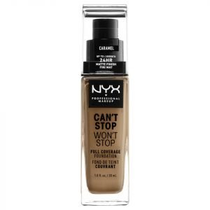 Nyx Professional Makeup Can't Stop Won't Stop 24 Hour Foundation Various Shades Caramel
