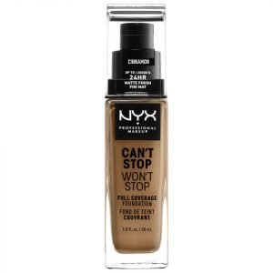 Nyx Professional Makeup Can't Stop Won't Stop 24 Hour Foundation Various Shades Cinnamon