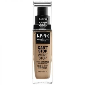 Nyx Professional Makeup Can't Stop Won't Stop 24 Hour Foundation Various Shades Classic Tan