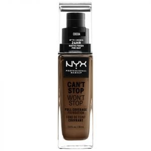 Nyx Professional Makeup Can't Stop Won't Stop 24 Hour Foundation Various Shades Cocoa