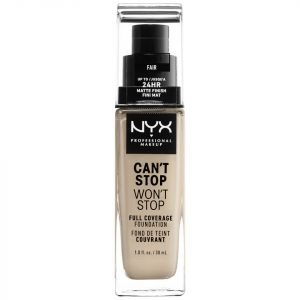 Nyx Professional Makeup Can't Stop Won't Stop 24 Hour Foundation Various Shades Fair