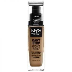 Nyx Professional Makeup Can't Stop Won't Stop 24 Hour Foundation Various Shades Golden
